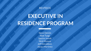 REVTECH Launches Executive in Residence Program